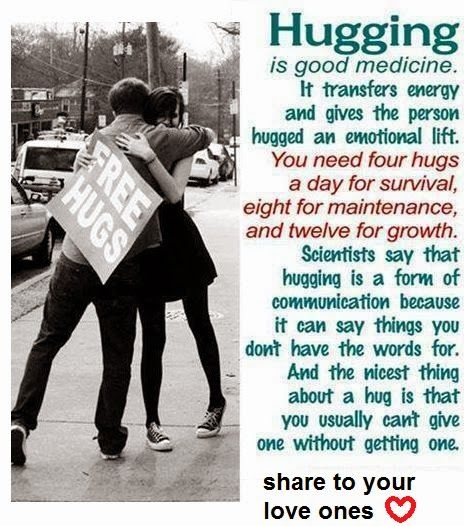 Hugging: Massage Therapy's beautiful Cousin. #BenefitsOfHugging
