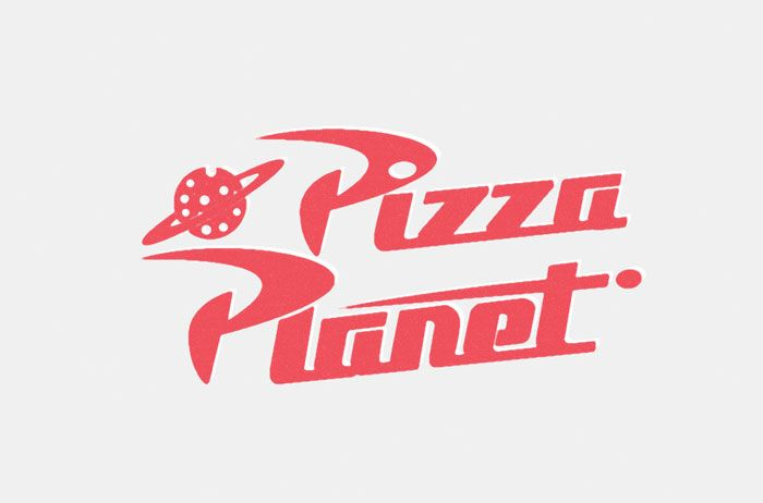 Pizza Planet logo from Toy Story (1995)