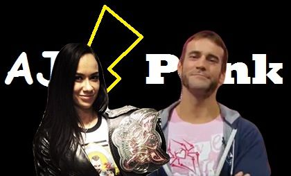 CM Punk wore AJ Lee's shirt live on WWE Raw and AJ Lee wore CM Punk's shirt at a signing!!!