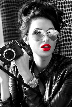 Red lips By #olloo