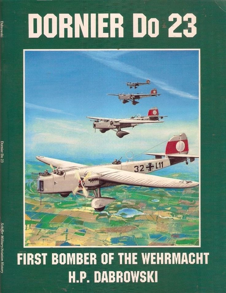 DORNIER Do 23: FIRST BOMBER of the WEHRMACHT. The Do 23 was the first bomber procured by Hitler's resurgent Luftwaffe and, as such, it represented a worthy footnote in military aviation history.  This volume does an excellent job of depicting this plane in all its various models from prototype to in service mainstays to variant models. For an aviation buff, a military buff, a history buff, and for a airplane modeler, this is an excellent resource to have at hand.