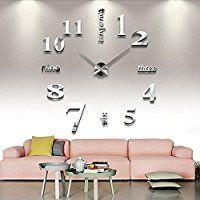 Vktech手作り DIY 壁時計 ウォールクロック  ウォールステッカー  時計を壁面に自由自在に設置できます 部屋装飾 模様替えに  簡単 おしゃれ!全10種類 (No.10)