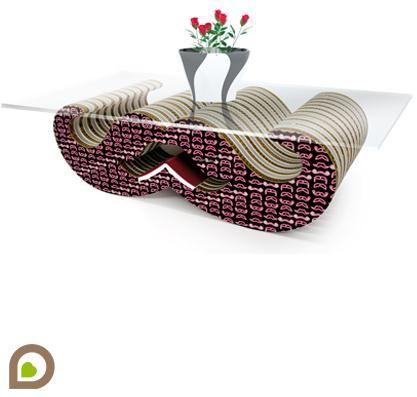 Etico Design_Sbaffo_Design Andrea Scarpellini. Sbaffo è un tavolino da salotto. Grazie alla sua originale forma di baffo arricciato permette di sfruttare, oltre al piano in vetro, gli spazi sottostanti per riporre riviste o piccoli oggetti. Inoltre è dotato di un ulteriore vano centrale utile come segnalibro. moustache
