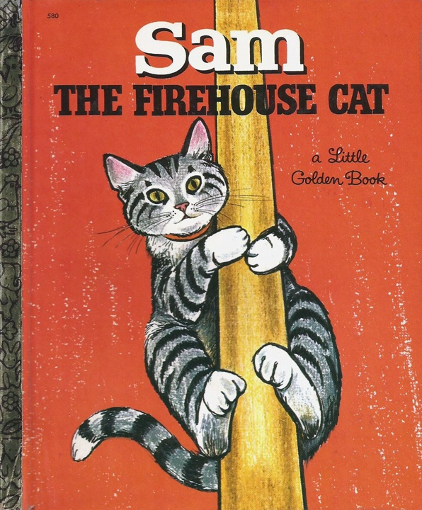 """"""" Sam the Firehouse Cat"""" written & illustrated by Virginia Parsons, 1968"""