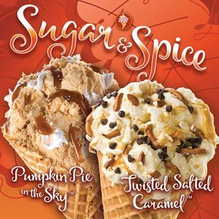 Cozy up to fall and try our Pumpkin and Salted Caramel ice cream flavors today at Cold Stone Creamery! #Kentsdeals