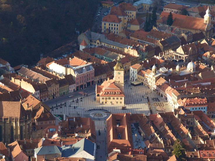The medieval centre of Braşov seen from Mt Tâmpa © Nellie Huang / Lonely Planet
