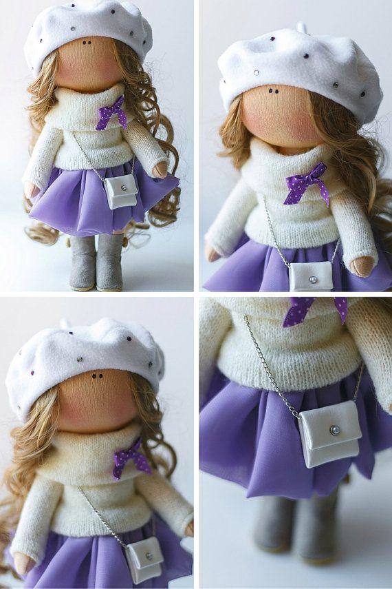 Señora muñeca tilda muñeca arte muñeca hecha por AnnKirillartPlace