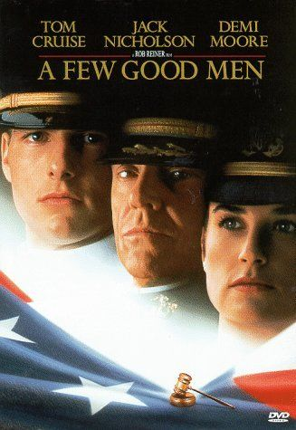 "A Few Good Men (1992) - Neo military lawyer Kaffee defends Marines accused of murder; they contend they were acting under orders.  Finally a movie that leaves out a ""love story""..."