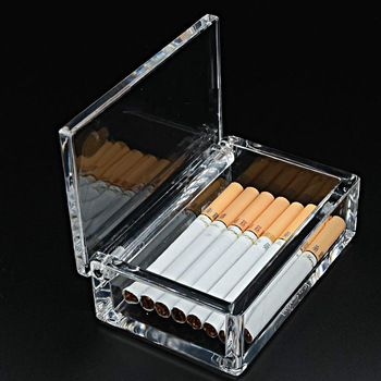 The Hotel Supplies Wholesale High-grade Acrylic Cigarette 20 Cigarettes Smoking Man Transparent Plastic Box