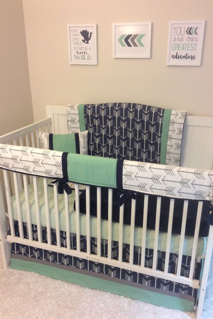 Crib bedding set gray white navy blue with by butterbeansboutique -  Gray Arrows Baby Girl Crib Bedding A Personal Favorite From My Etsy Shop Https Www Etsy Com