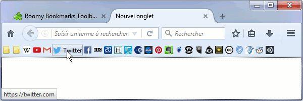 Améliorer la barre personnelle de #Firefox avec Roomy Bookmarks Toolbar #Extension
