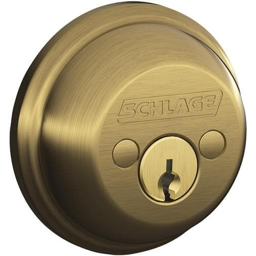 Schlage Lock Ab 2 Cylinder Deadbolt B62NV609 Unit: Each, Bronze