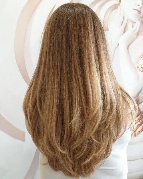 20 ohnmächtige Frisuren für langes Haar-   34 Süßeste lange geschichtete Fri…