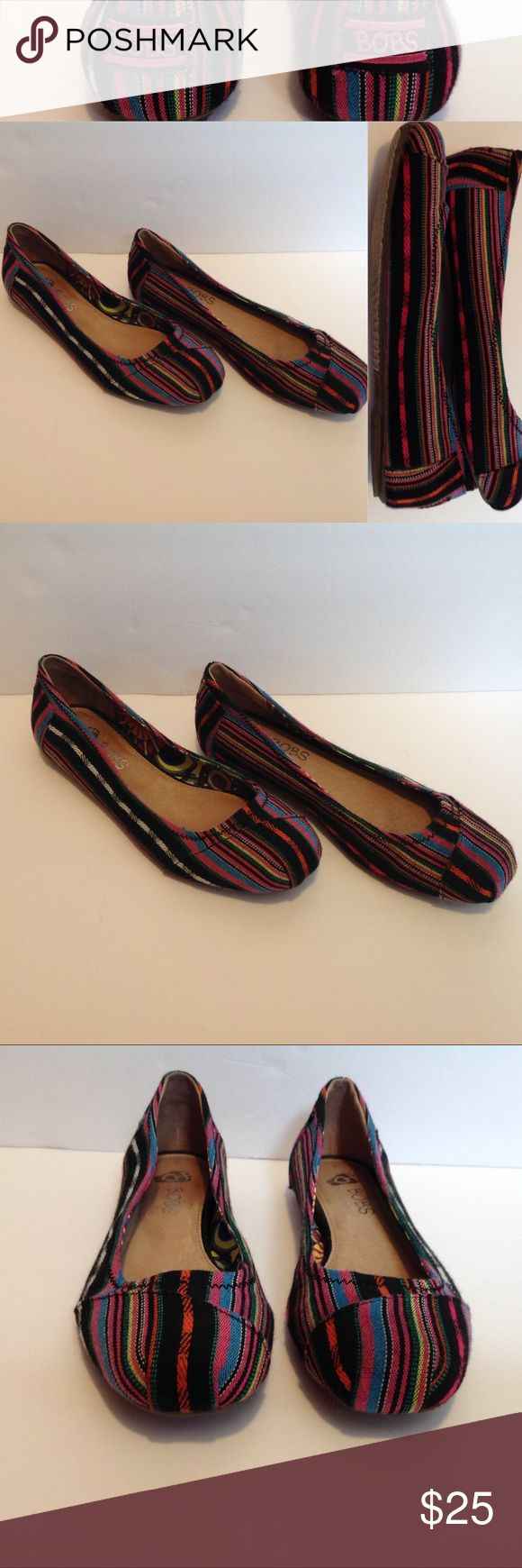 BOBS multicolor festival flats Additional description: sketchers BOBS  Condition: great - signs of wear on inside sole and a little on bottom. Outside in excellent condition See pictures for measurements.  Feel free to make a responsible offer. I do offer a bundle discount!  Happy shopping  BOBS Shoes Flats & Loafers