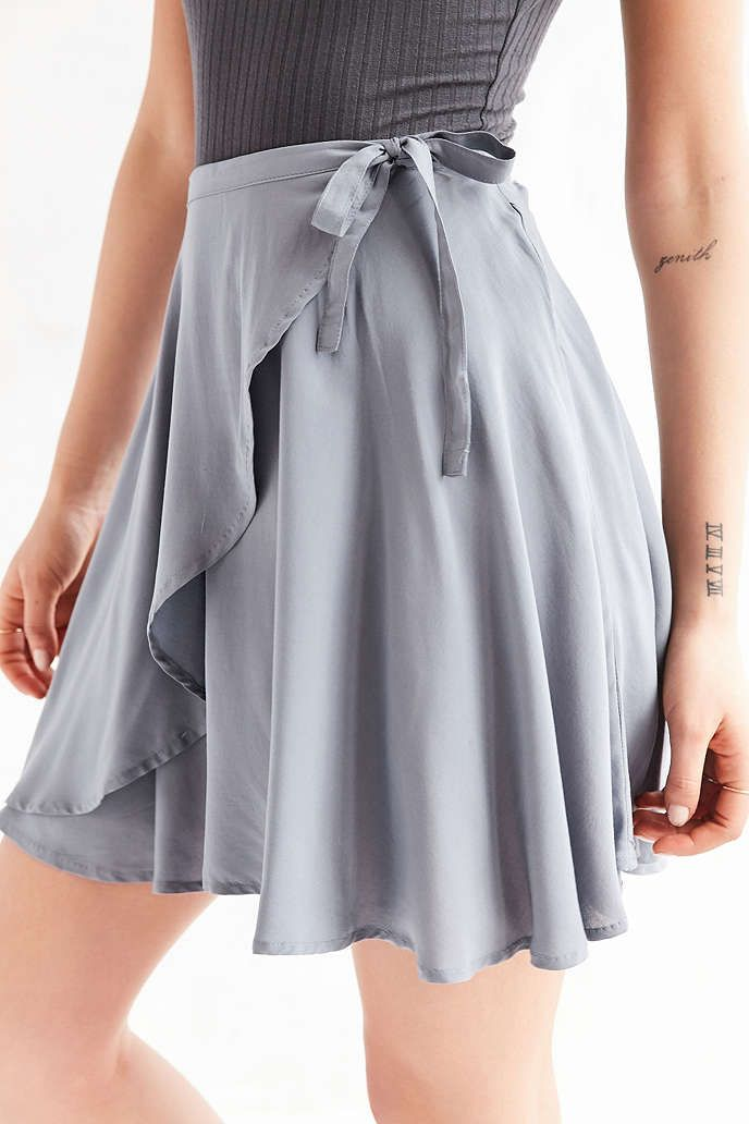 Kimchi Blue Ballet Wrap Mini Skirt