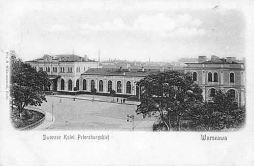 Warsaw dworzec kolei petersburgskiej 19w - Петербурго-Варшавская железная дорога — Википедия