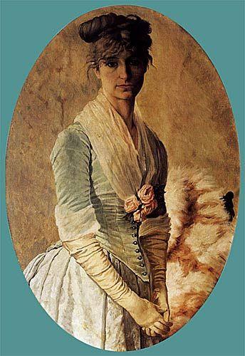 Kadın Portesi .... Eşi Naile Hanım ... Ressam : Osman Hamdi Bey / Portrait of a woman .... wife from Painter Osman Hamdi Bey