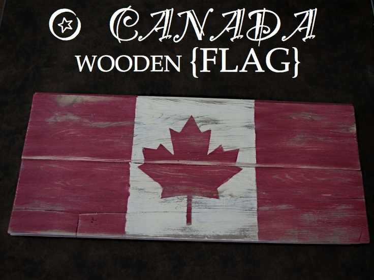 ! Wooden Canadian Flag