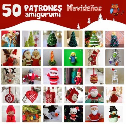 50 Patrones Amigurumi Navideños ~ amigurumi Christmas patterns