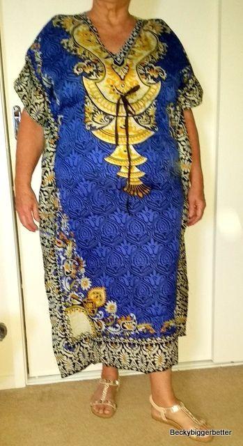 Blue Long Caftan One Size 16 18 20 22 24