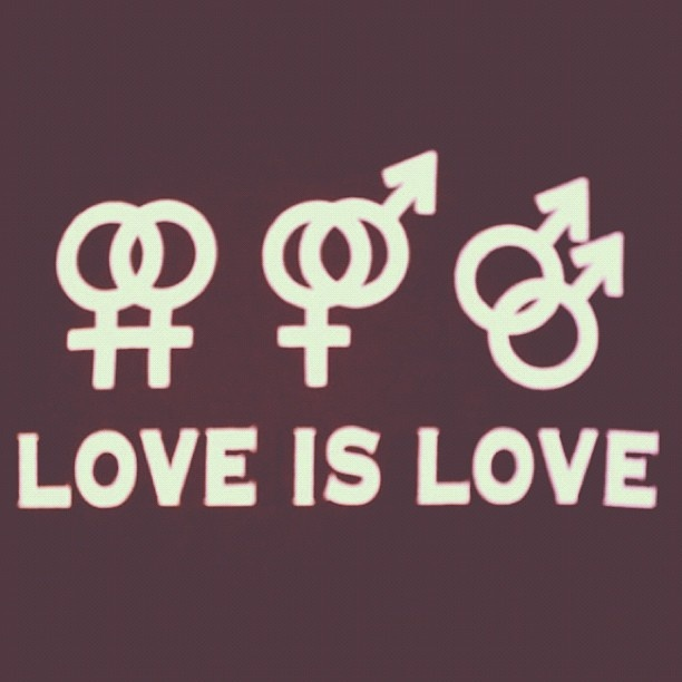 Love is Love. Stop Homophobic Hate. Seriously, get real