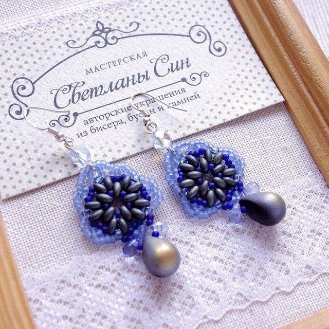 Небольшие плетеные серьги из японского и чешского бисера и чешского стекла. Дужки - серебро 925  нашли хозяйку) #мастерская_син #sinbead #sinbeadjewelry #jewelry #earrings #украшения #серьги