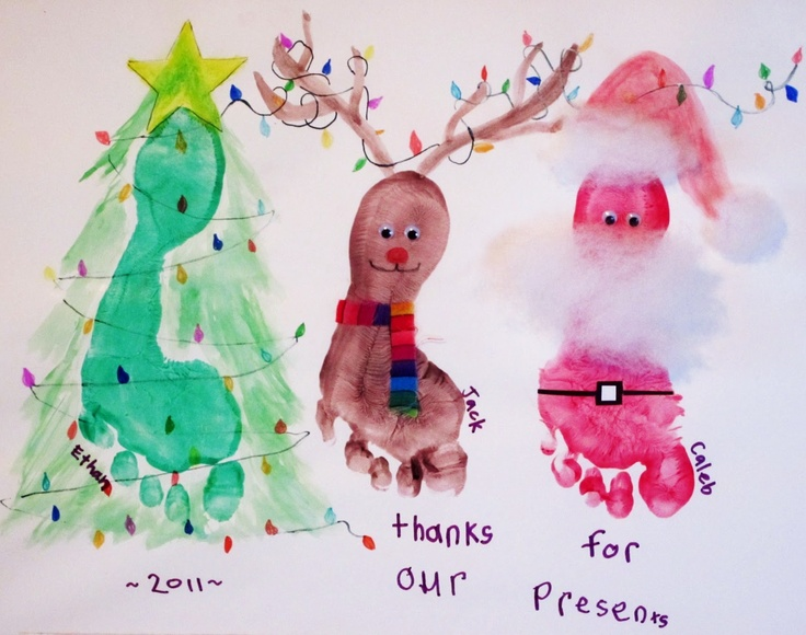 Homemade Christmas Card Ideas For Kids To Make Part - 34: Christmas Thank You Cards Kids Can Make