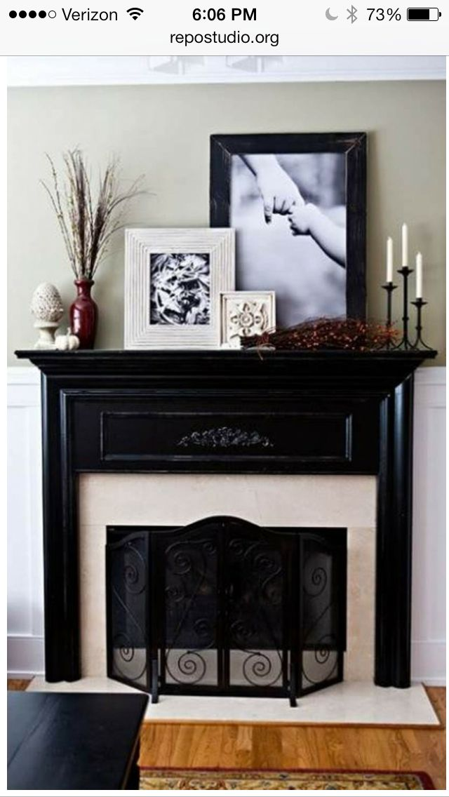 Decorating Fireplace Mantels Pictures And Tall Plants   Big Decorations For  A Big Space!