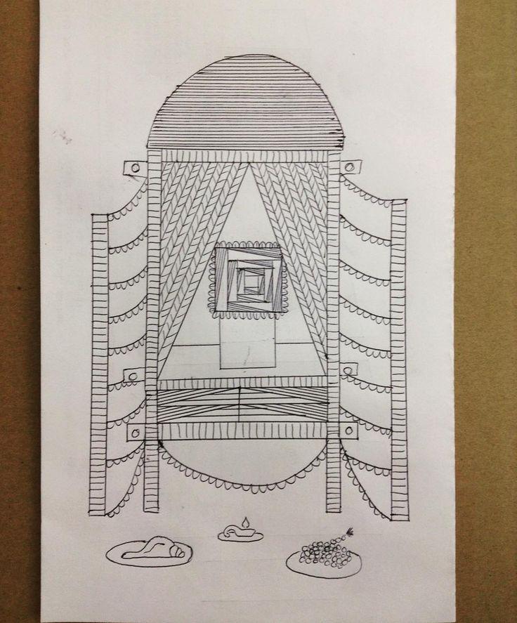 Entry way, open door, threshold, between two works. Posted by: https://www.instagram.com/phrasingforlight/.