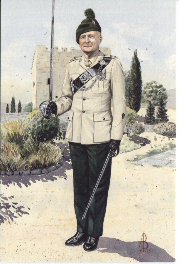 Alix Baker Postcard - AB18/4 Commanding Officer, 1st Bn Royal Irish Regiment, Cyprus 1993 (No4 Dress)