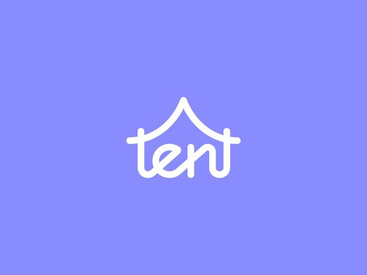 Tent / logo design by Deividas Bielskis #Design Popular #Dribbble #shots