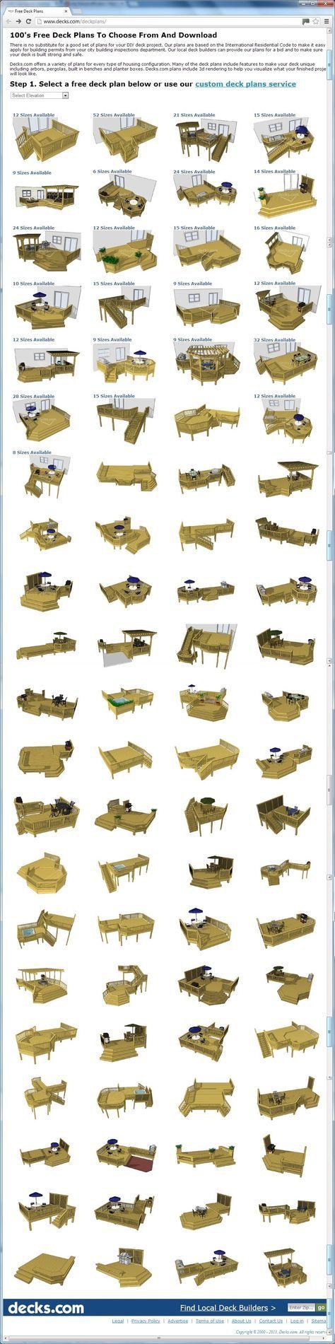 Best 25+ Deck Building Plans Ideas On Pinterest  Deck Design, Wood Deck  Designs And Decks
