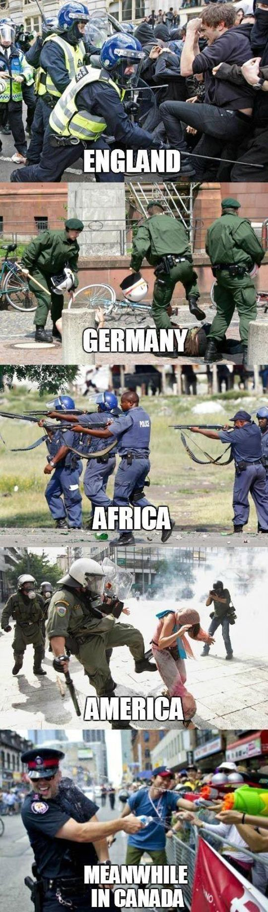 Police brutality across the world // funny pictures