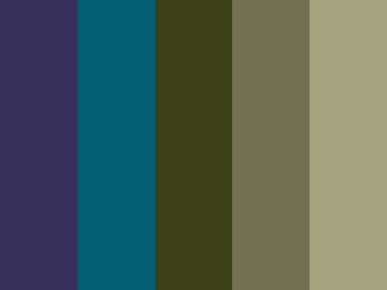 peacock color scheme | Color Schemes...Next for the house? Yes I think so
