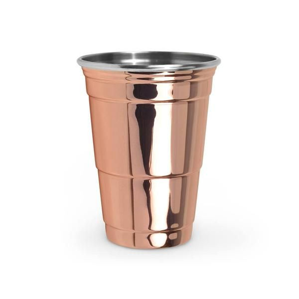 "ummmm, can you say ""fancy beer pong""?! this copper party cup by fred & friends will make frat brothers everywhere go weak in the knees. now all you need is...we don't know...a diamond-encrusted ping pong ball?! p.s. let us know if you find one."