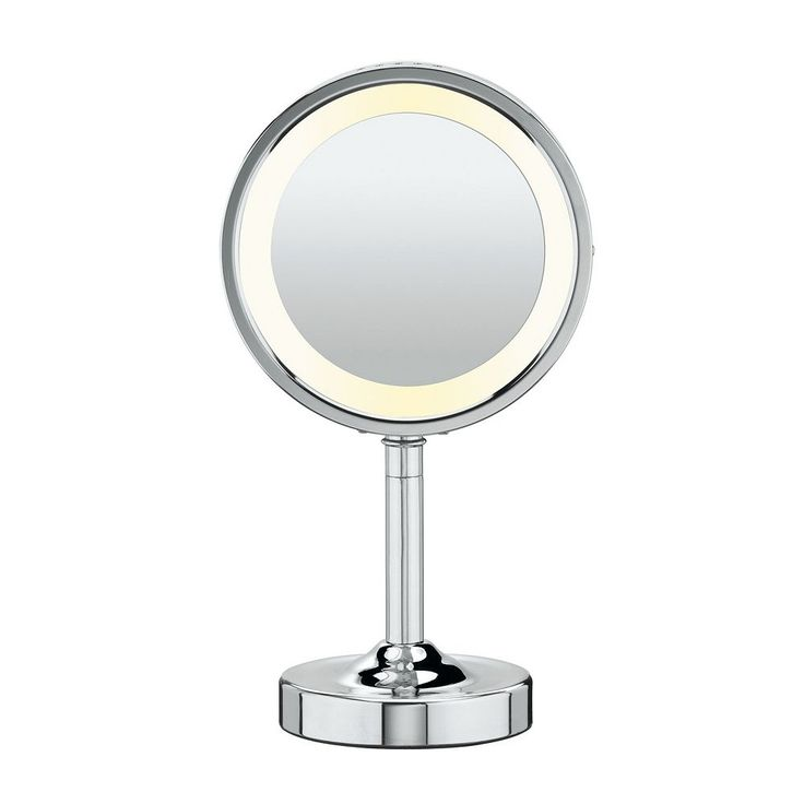 Conair Double-Sided Lighted Round Vanity Mirror, White Oth