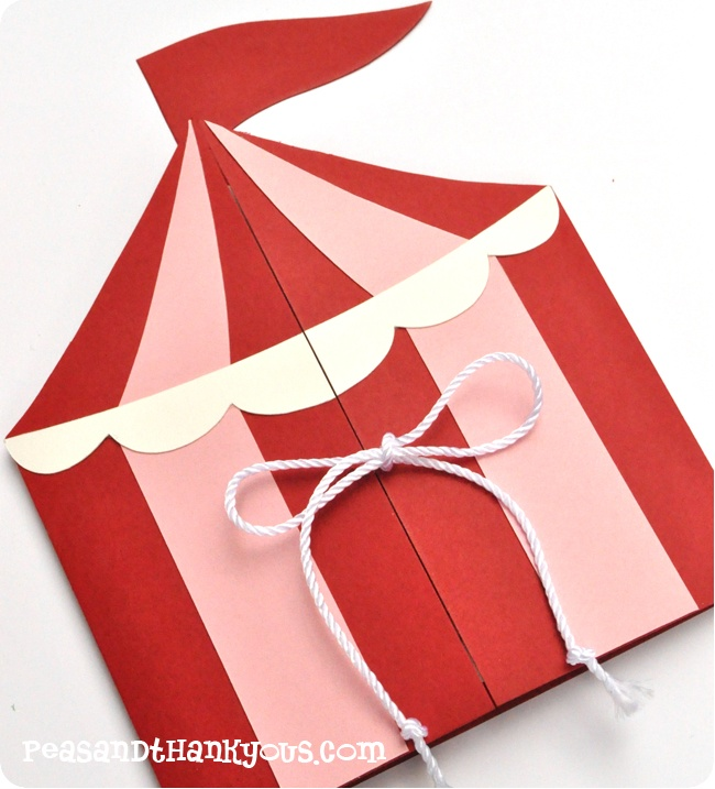 Circus Party Invitation - Maybe red and white with the EFF logo for Easter bags