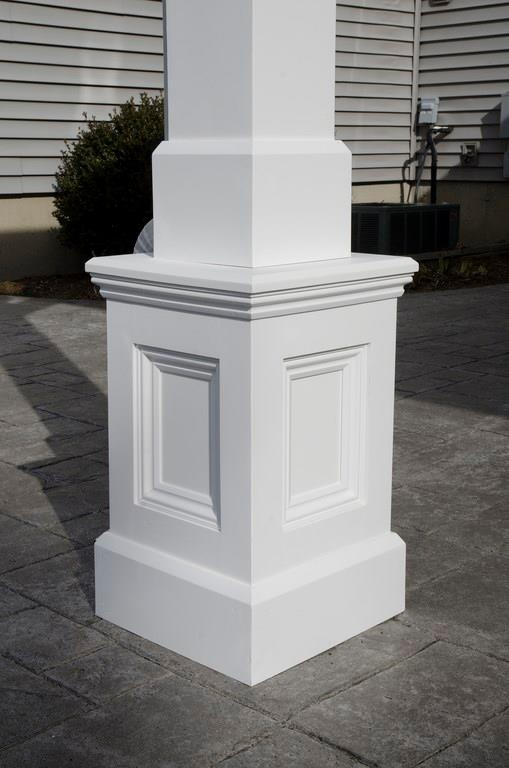 Azek Column Base Small Basement Remodel Basement Remodeling Finished Basement Bars