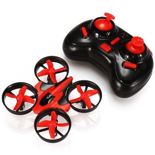 ONCHOICE E010 Mini UFO Quadrocopter Drohne Nano Quadcopter Drone RTF Rot