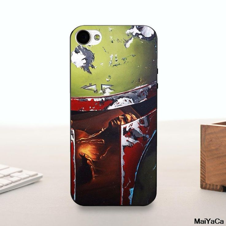 Silicone case Star Wars Boba Fett Green Helmet Novelty Fundas Phone Case Cover For iPhone 4 5 5c 6 6plus 7 7plus