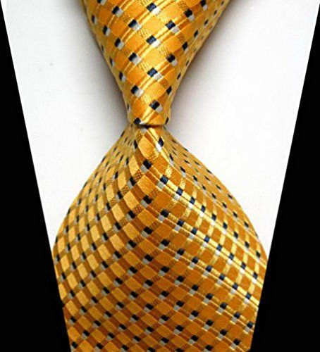 Necktie - Woven Jacquard silk in solid lemon yellow Notch aVN0zmS4e
