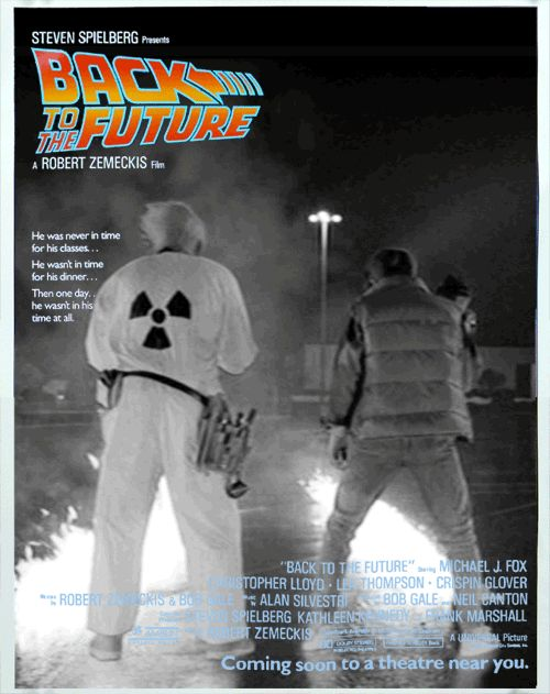 Movie Posters Are Infinitely Better as Mesmerizing GIFs | Back to the Future  via Imgur  | WIRED.com