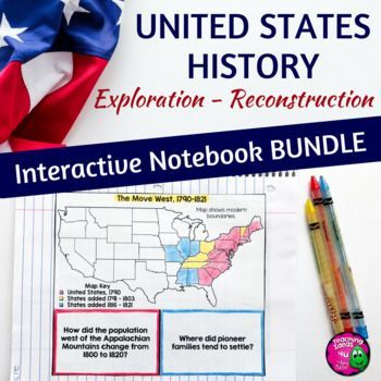 American History Interactive Notebook Exploration - Reconstruction Bundle 8th Gr This 330+ page file is designed as an interactive notebook for middle school American History. In this file are graphic organizers to help your student organize his or