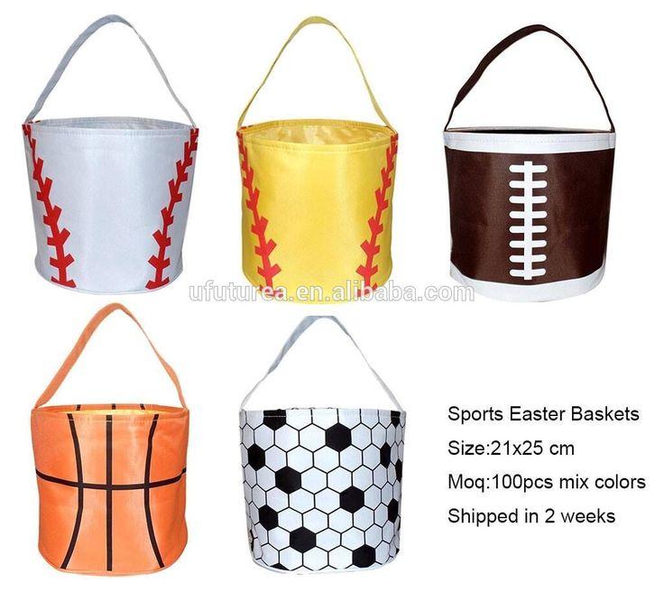 Wholesale Blank Sport Baseball Easter Basket