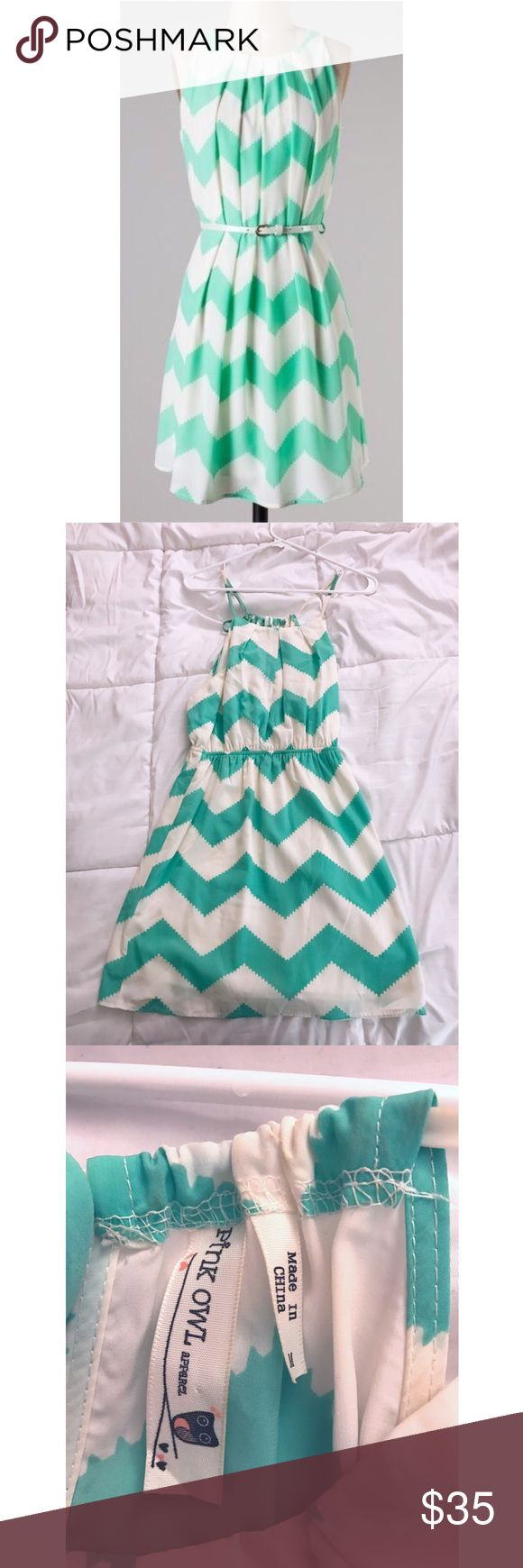 Mint Chevron Sundress Size medium. Mint Chevron dress, so beautiful and perfect for summer! Would probably fit a size 6-8 perfectly. Dresses Strapless