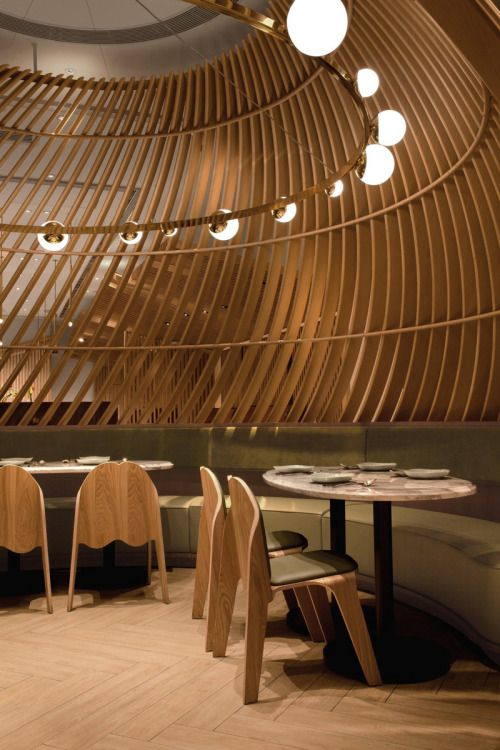 Contemporist Wood Slats Interior Design Hospitality Restaurant