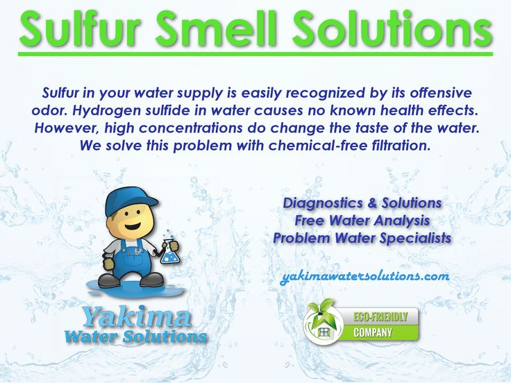 Water Smell Like Rotten Eggs? ChemicalFree Sulfur