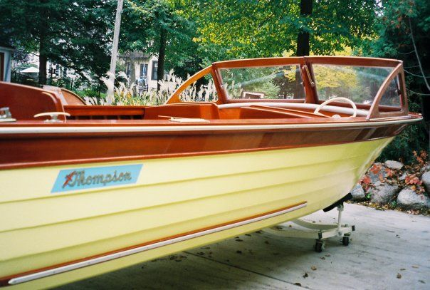 Thompson boat restored by andreas jordahl rhude wooden for Chris craft boat restoration