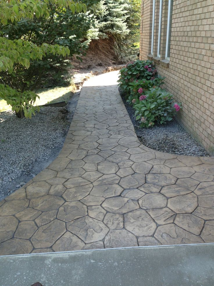 Concrete Overlay Random: 15 Best Images About Stamped Concrete On Pinterest