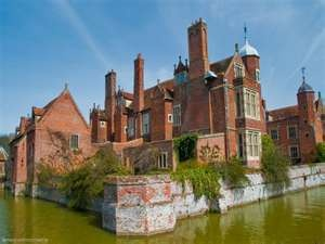 Kentwell Hall Long Melford Suffolk - most of the current building facade dates from the mid 16th century but the origins of Kentwell are much earlier, with references in the Domesday Book of 1086 ...